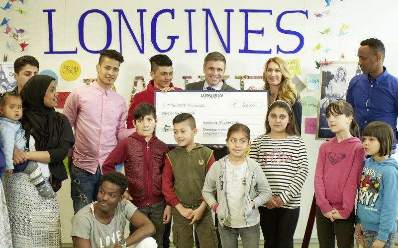 Children for Tomorrow welcomes Longines to the foundation's headquarters in the presence of Ambassador of Elegance Stefanie Graf