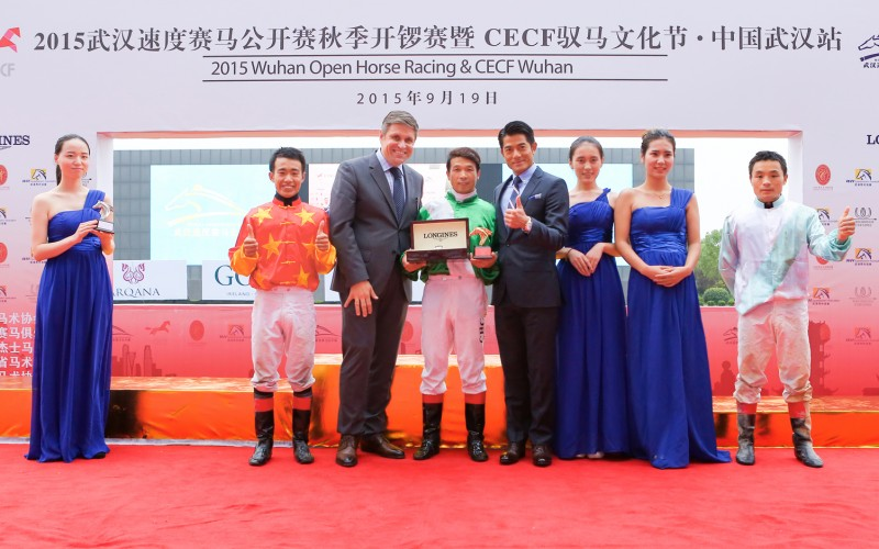 Victory of Liu Sanping on Yuanman at the Longines Mile Race in Wuhan