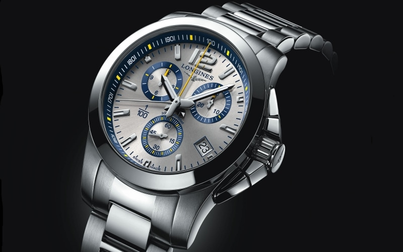 To celebrate its partnership with the resort of St. Moritz, Longines unveils the Conquest 1/100th St. Moritz