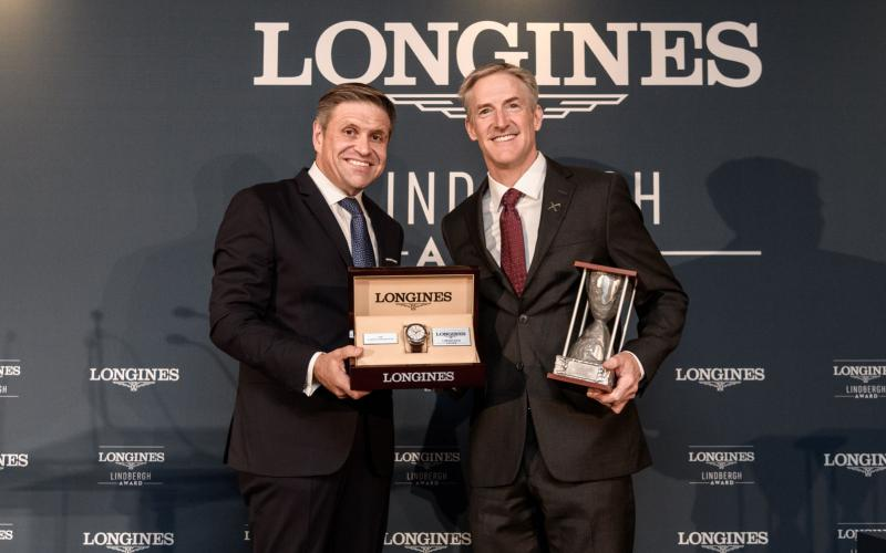 Erik Lindbergh, Grandson of Famed Aviator Charles Lindbergh, Receives the First Longines Lindbergh Award