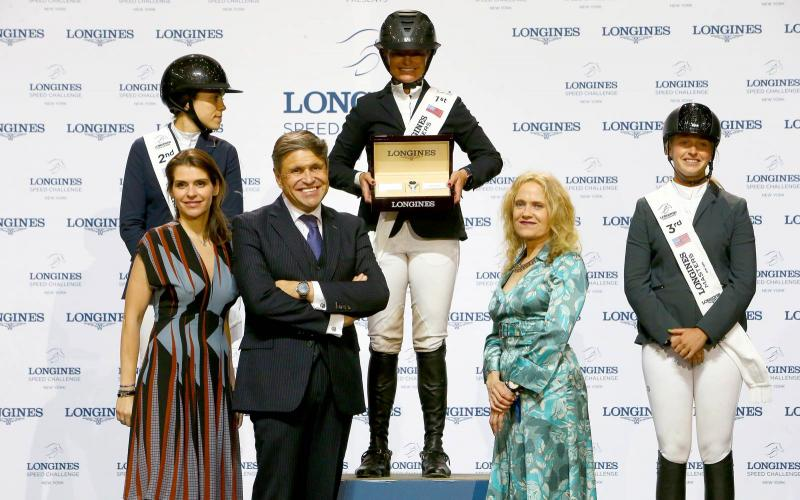 Erynn Ballard on Fantast emerged victorious in the Longines Speed Challenge