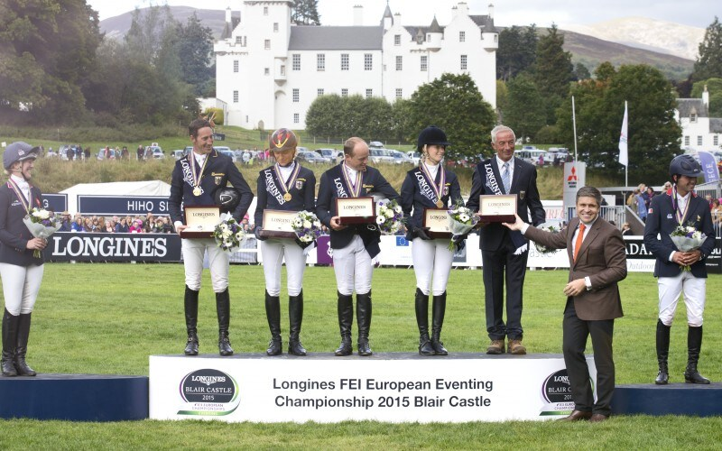 Longines timed the victory of the German riders at the Longines FEI European Eventing Championship 2015 in Blair Castle in the presence of Her Majesty The Queen Elizabeth II