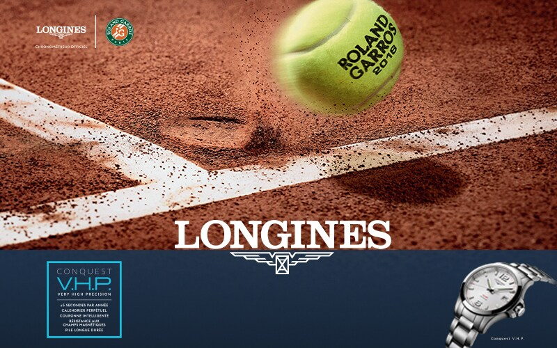 Follow the 2018 French Open with Longines, Official Timekeeper