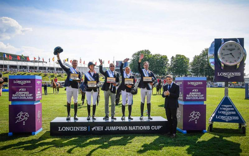 La France gagne le Longines FEI Jumping Nations Cup™ of Switzerland à Saint-Gall