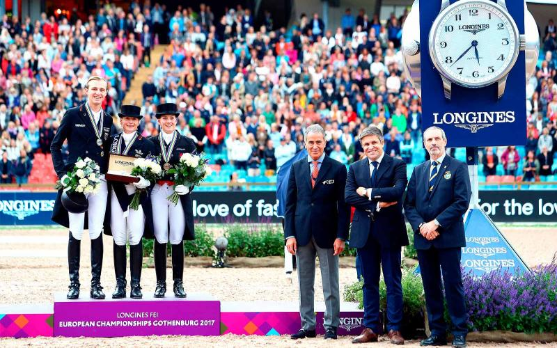 the Dressage Freestyle competition; the Longines FEI European Championships;; Sönke Rothenberger; Cathrine Dufour;