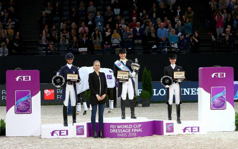 Germany's Isabell Werth and Weihegold OLD claimed the 2018 FEI World Cup Dressage Final