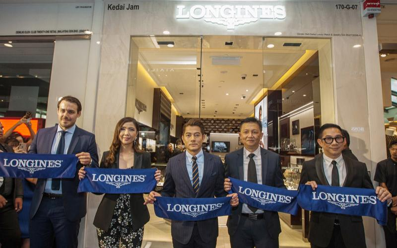 Longines and Canto-pop Superstar Aaron Kwok Celebrate Grand Opening of the Brand's Fourth Boutique in Malaysia and the First in Penang at Gurney Plaza