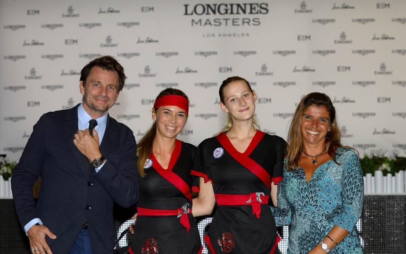 Longines competed for JustWorld International at the Longines Masters of Los Angeles