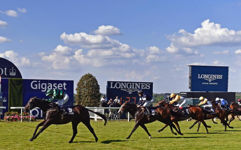 Hawkeyethenoo and Carol Bartley claimed The Longines Handicap Stakes during King George VI Weekend at Ascot