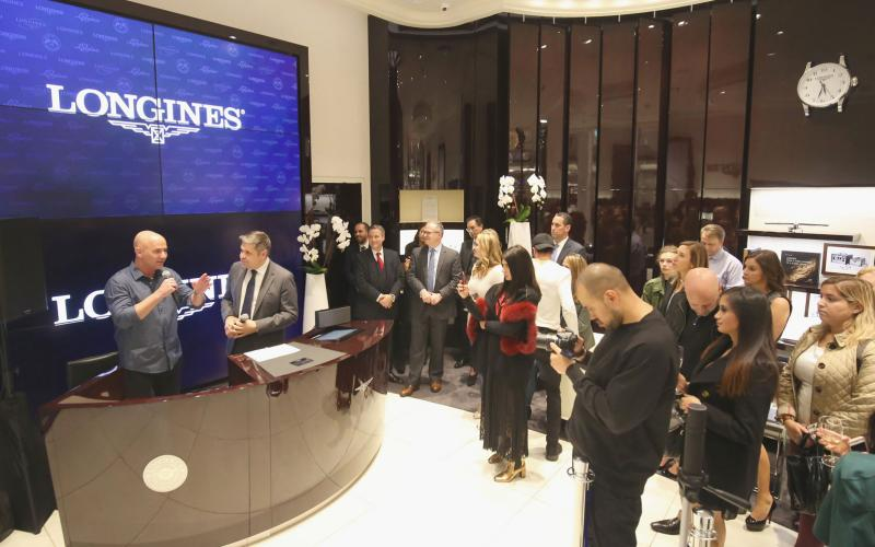 Swiss Watch Brand Longines and Ambassador Andre Agassi Launch Conquest V.H.P. Collection at World Trade Center Boutique in Manhattan