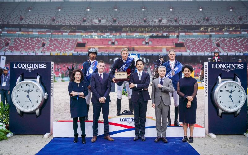 Henrik von Eckermann claimed victory at the 2018 Longines Equestrian Beijing Masters