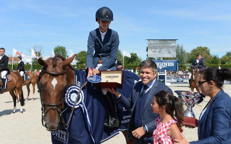 Alexandra Paillot and Polias de Blondel claim the very first Grand Prix Longines Région Normandie at the Longines Deauville Classic