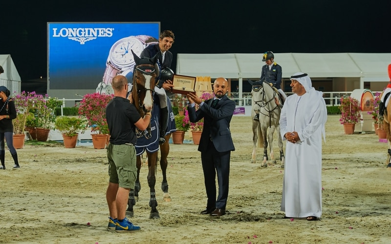 Longines ensured an elegant display of equestrian sports at the President of the UAE Show Jumping Cup presented by Longines