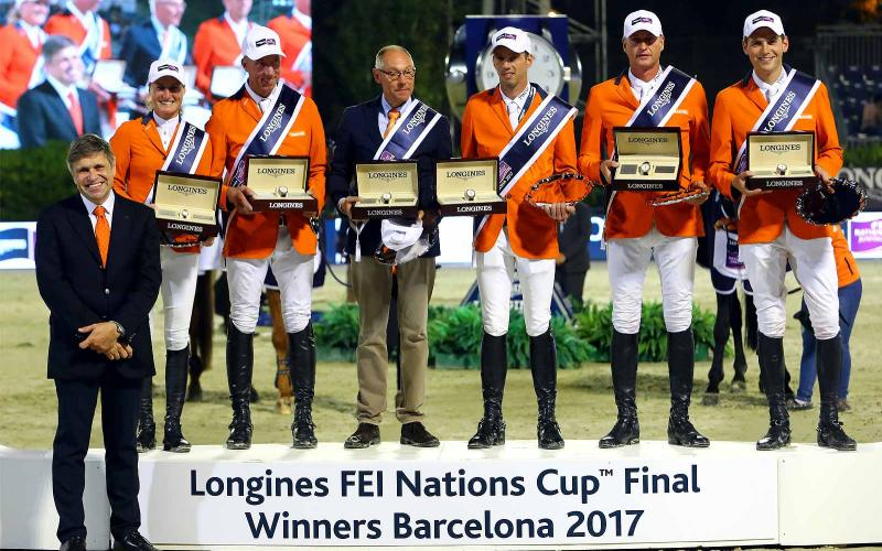 Team Netherlands claimed victory at the Longines FEI Nations Cup™ Jumping Final in Barcelona