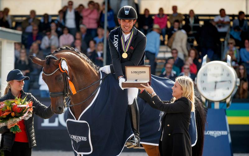 Fiontini earned 1st place at the 7-year-old final of the 2017 Longines FEI World Breeding Dressage Championships for Young Horses