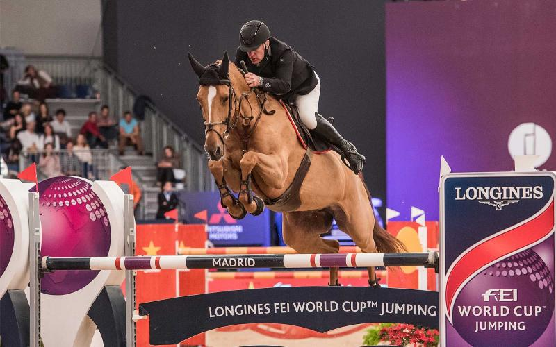 Longines FEI World Cup Western European League Madrid Horse Week; Jumping; 2017; Roger Yves Bost