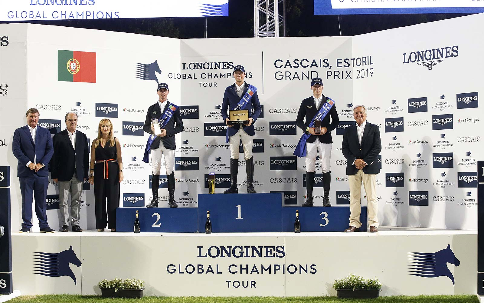 Martin Fuchs (SUI) on Chaplin claimed victory at the Longines Global Champions Tour of Cascais