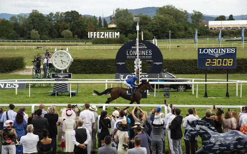 Swiss watch brand Longines honours the winners of  the Longines Grosser Preis von Baden