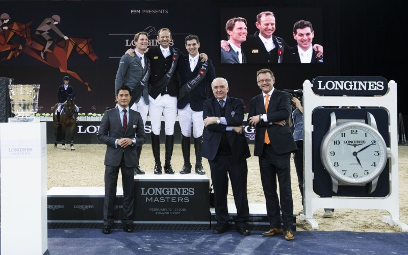 Marco Kutscher achieved the incredible feat of winning the bonus of the Longines Masters