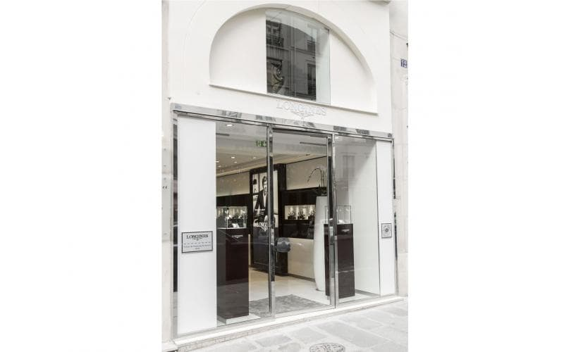 Longines opened its second boutique in France, on Paris' Right Bank, at 16 Rue du Faubourg Saint-Honoré on Tuesday 12 July