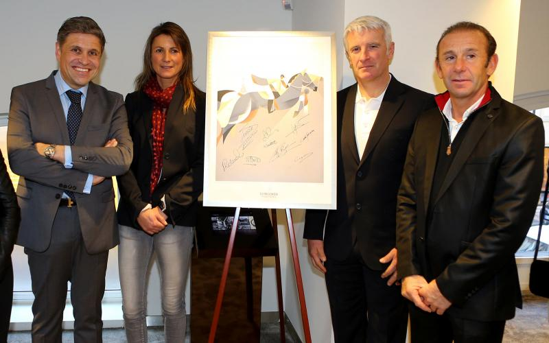 Longines presented its latest equestrian watch in its new Parisian boutique in the presence of show jumping champions