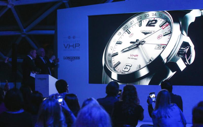 Longines presents the new Conquest V.H.P. GMT Flash Setting:  the watch made for frequent travelers