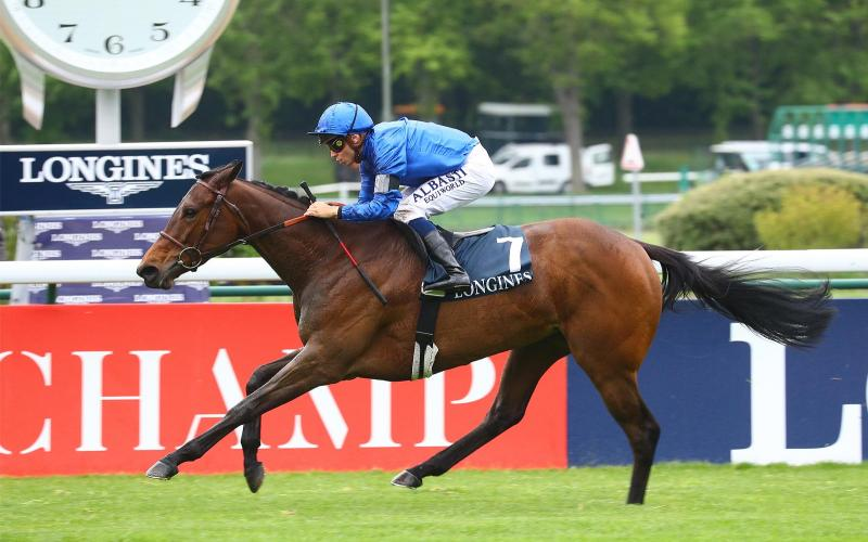Morgan le Faye ridden by Mickaël Barzalona successful at the Prix Allez France Longines