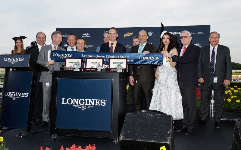 Lucia Valentina and Damien Oliver speed to victory at the Longines Queen Elizabeth Stakes