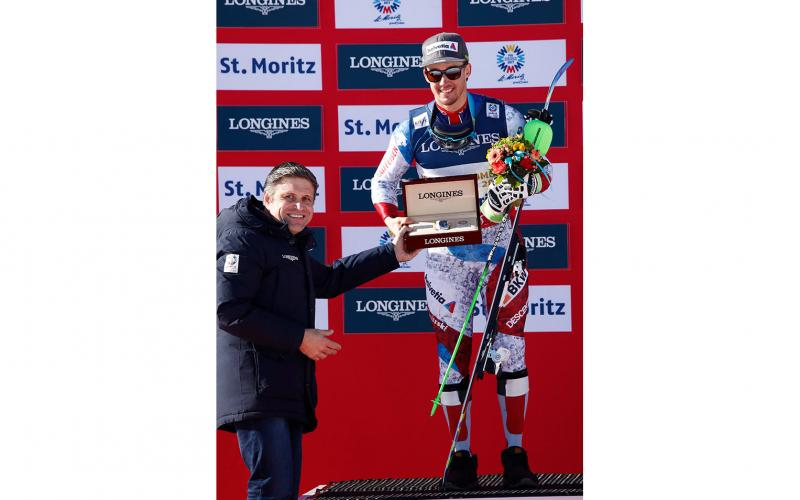 Longines rewards the Men's Alpine Combined World Champion with a model from the Conquest Classic collection