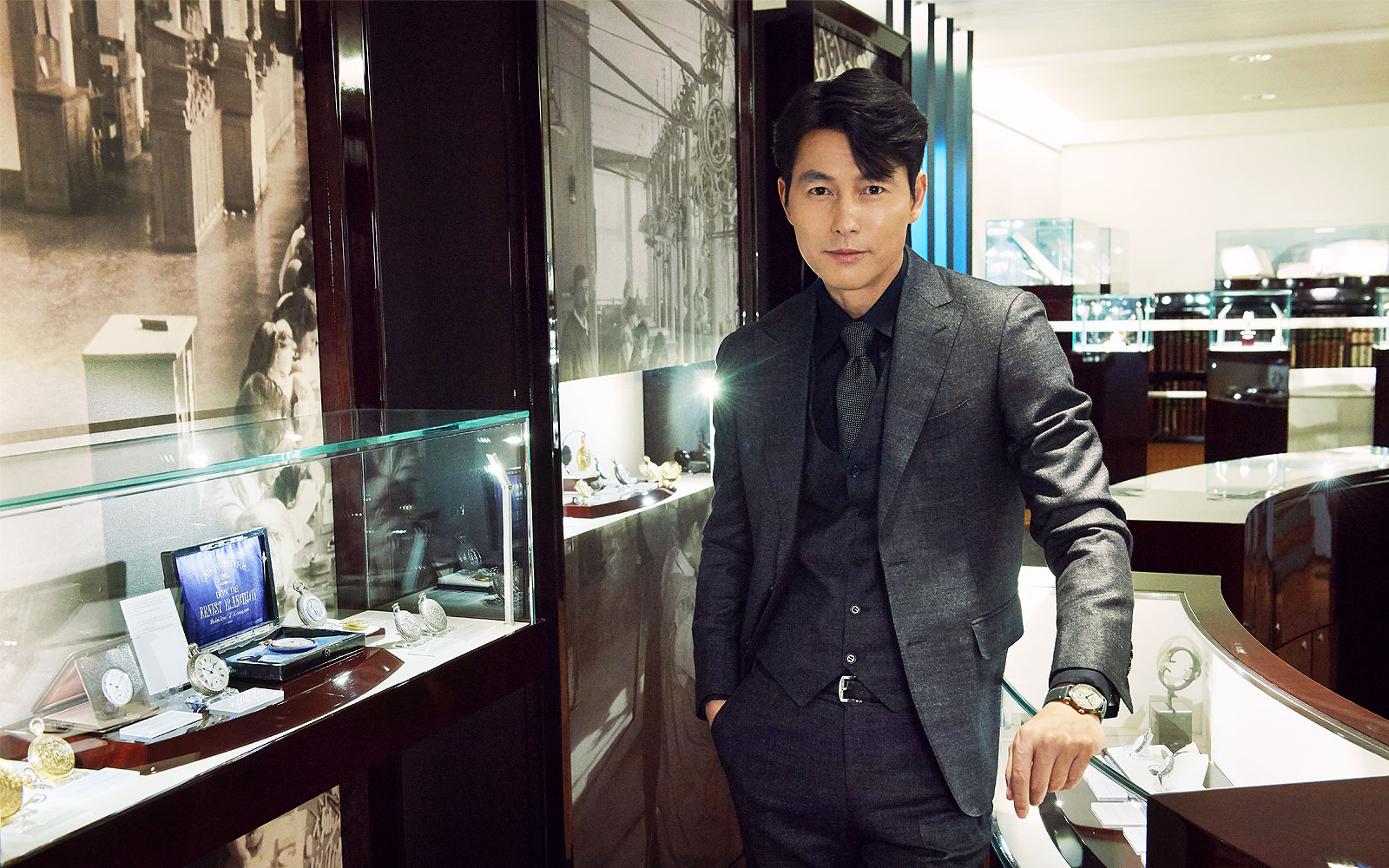 Longines welcomes its Ambassador of Elegance Jung Woo-Sung to Saint-Imier; Saint-Imier; 2019
