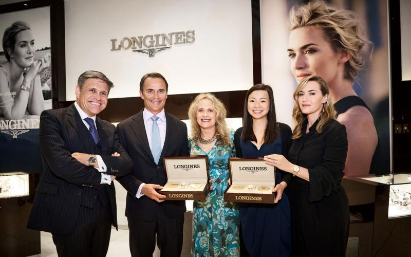 Longines accueille son Ambassadrice de l'Élégance Kate Winslet à New York pour la conclusion d'un projet associatif commun au profit de la Golden Hat Foundation