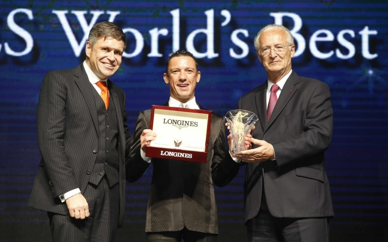 "Lanfranco ""Frankie"" Dettori honoured at the second Longines World's Best Jockey Award ceremony"