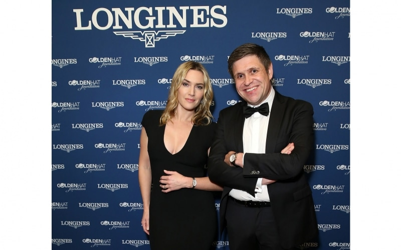 Longines celebrates its new collaboration with the Golden Hat Foundation in the presence of Ambassador of Elegance Kate Winslet