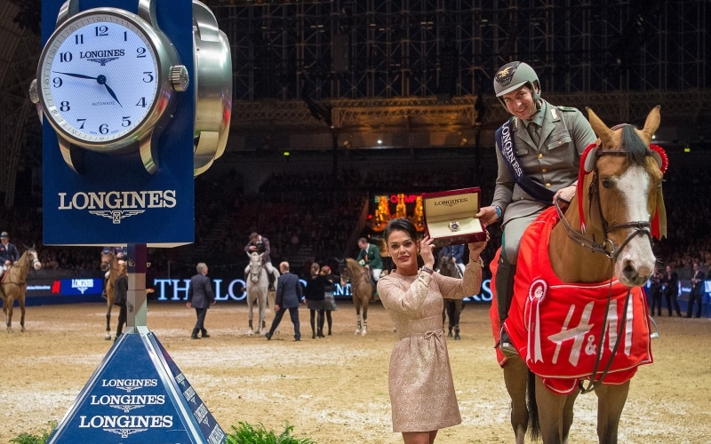 Emanuele Gaudiano pilots Admara to victory at the Longines FEI World Cup™ Jumping leg in London