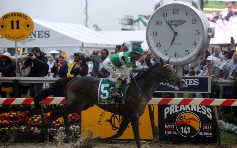 Preakness Stakes and Longines Dixie Stakes;Jumping;2016, Official Partner, Exaggerator's