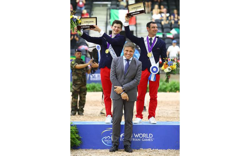 Sanne Voets (NED), Stinna Tange Kaastrup (DEN) and Sophie Wells (GB) took gold medals in the Para-Dressage championships of the day at FEI World Equestrian Games Tryon 2018