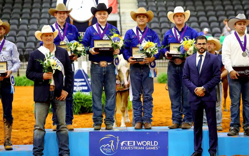 Team USA earned the title at the FEI World Equestrian GamesTM Reining competition