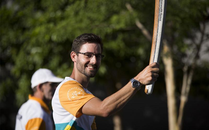 The Queen's Baton Relay arrived in Cairns