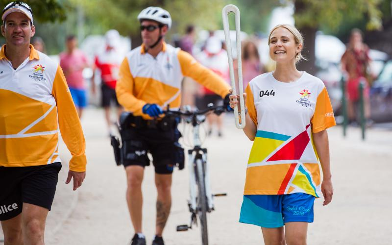 The Queen's Baton Relay arrived in Melbourne