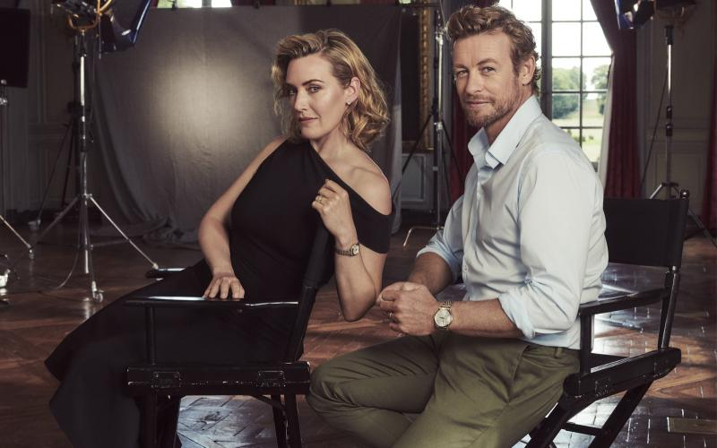 The Record collection perfectly embodied by Longines Ambassadors of Elegance Kate Winslet & Simon Baker