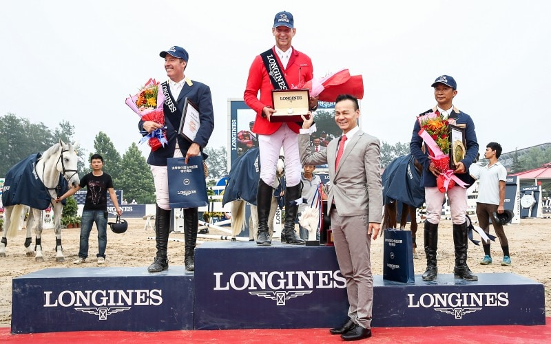 Victory of Franke Sloothaak at the Longines Grand Prix of the Longines China Tour of Beijing